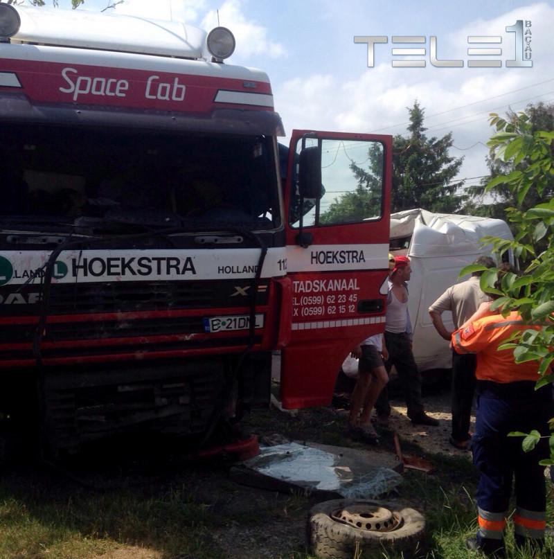 Accident pe DN 2.  În urma impactului un şofer a ajuns la Urgenţe