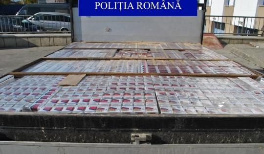 Polițiștii bacăuni au confiscat peste 100 000 de țigarete de contrabandă.