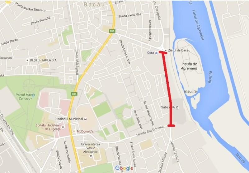 Strada Milcov va fi  închisă circulaţiei din cauza lucrărilor de asfaltare