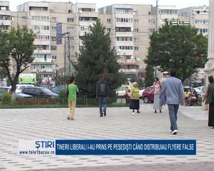 TINERII LIBERALI I-AU PRINS PE PESEDIȘTI CÂND DISTRIBUIAU FLYERE FALSE