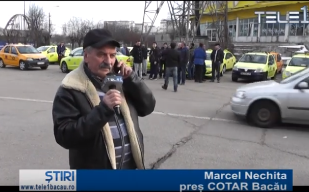 Taximetriștii, protest împotriva pirateriei auto