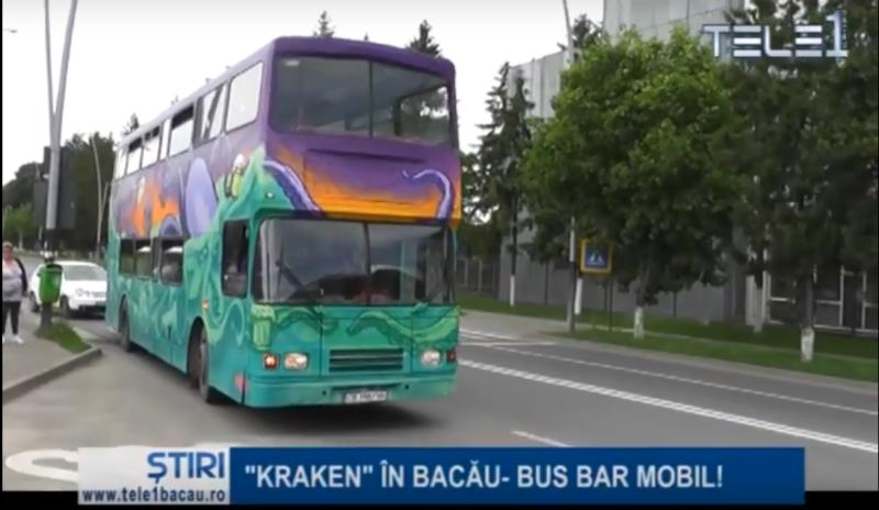 """""""KRAKEN"""" în Bacău-bus bar mobil"""