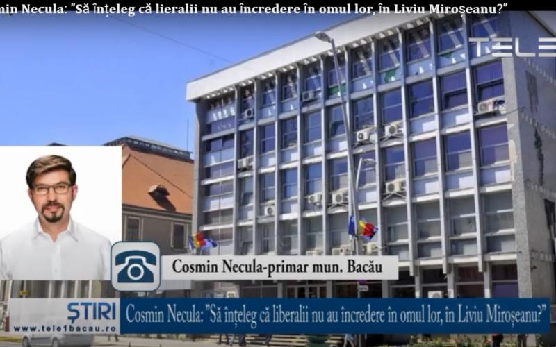 """Cosmin Necula: """"Să înțeleg că liberalii nu au încredere în omul lor, în Liviu Miroșeanu?"""""""